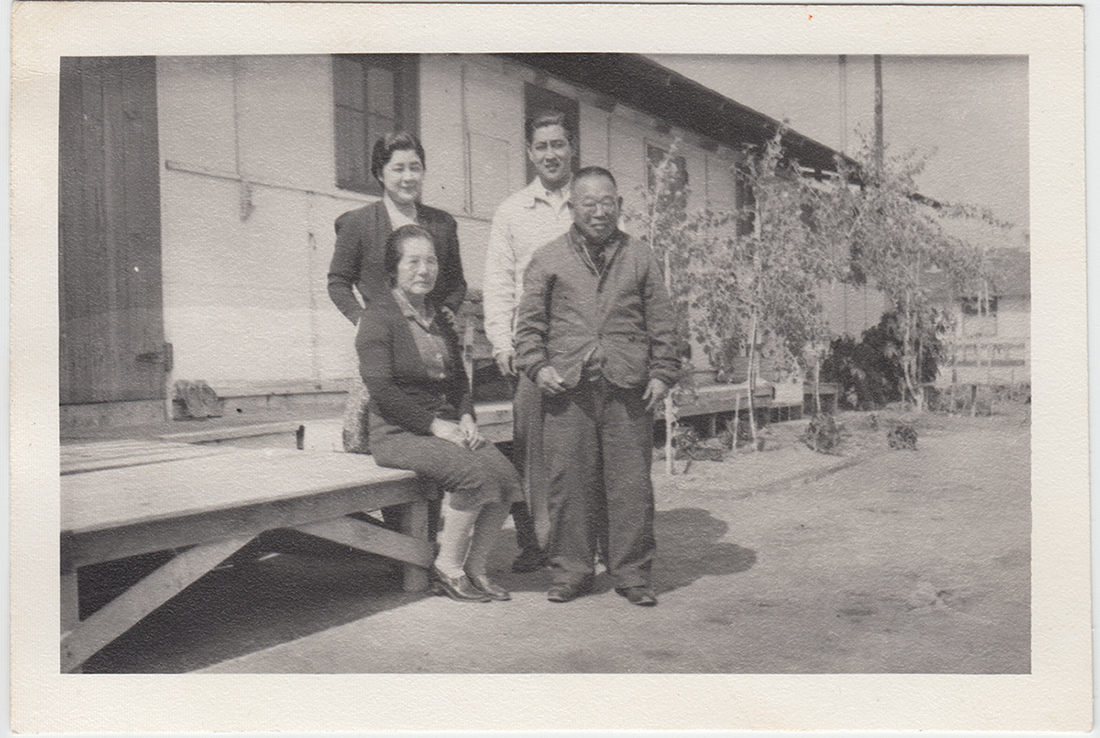 A Japanese family outside the internment camps
